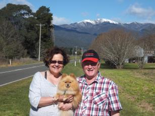 At the beginning - Mt Feathertop, Bright
